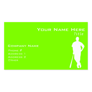 Chartreuse, Neon Green Baseball Double-Sided Standard Business Cards (Pack Of 100)