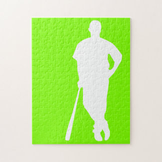 Chartreuse, Neon Green Baseball Puzzles