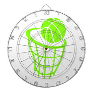 Chartreuse, Neon Green Basketball Dart Board