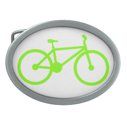 Chartreuse, Neon Green Bicycle Oval Belt Buckle