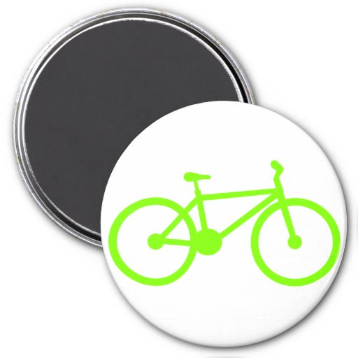 Chartreuse, Neon Green Bicycle Refrigerator Magnet