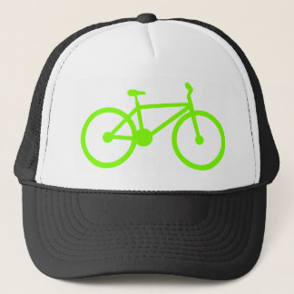 Chartreuse, Neon Green Bicycle Trucker Hat
