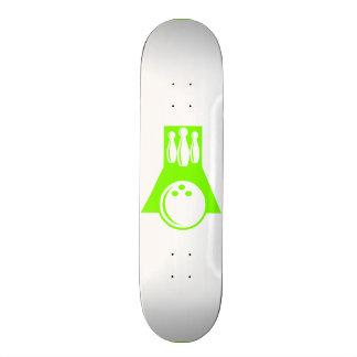 Chartreuse, Neon Green Bowling Skateboard Deck