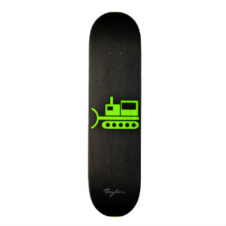 Chartreuse, Neon Green Bulldozer Skateboard Deck