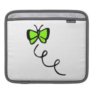 Chartreuse, Neon Green Butterfly iPad Sleeve