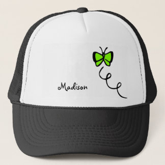 Chartreuse, Neon Green Butterfly Trucker Hat