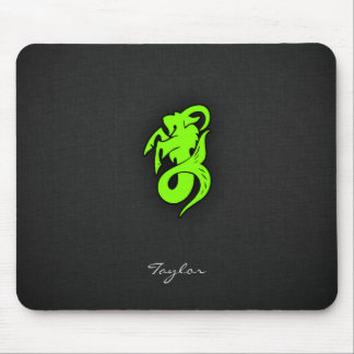 Chartreuse, Neon Green Capricorn Goat Mouse Pad