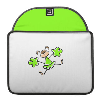 Chartreuse, Neon Green Cheerleader MacBook Pro Sleeves