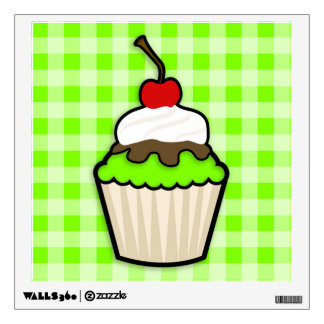 Chartreuse, Neon Green Cupcake Wall Decal