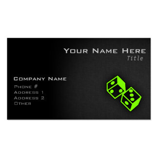 Chartreuse, Neon Green Dice Double-Sided Standard Business Cards (Pack Of 100)