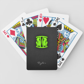 Chartreuse, Neon Green Gemini Bicycle Playing Cards