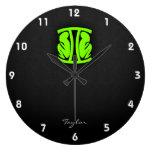 Chartreuse, Neon Green Gemini Clock