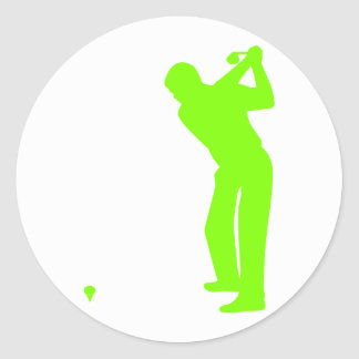 Chartreuse, Neon Green Golf Classic Round Sticker