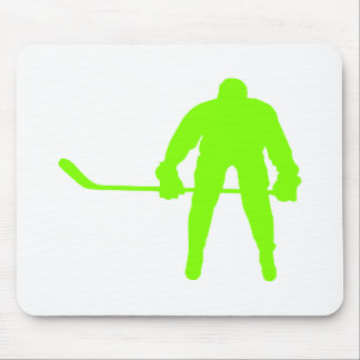 Chartreuse, Neon Green Hockey Mouse Pad
