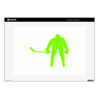 Chartreuse Neon Green Hockey Laptop Decal