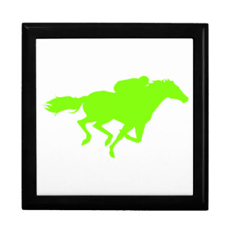 Chartreuse, Neon Green Horse Racing Jewelry Boxes