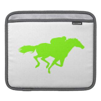 Chartreuse, Neon Green Horse Racing iPad Sleeves