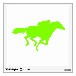 Chartreuse, Neon Green Horse Racing Wall Decal