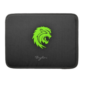 Chartreuse, Neon Green Leo Lion Sleeve For MacBooks