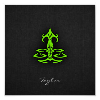 Chartreuse, Neon Green Libra Poster