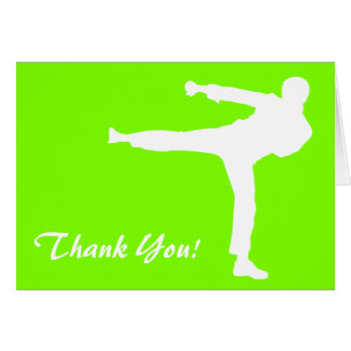 Chartreuse, Neon Green Martial Arts Card