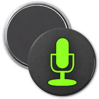 Chartreuse Neon Green Microphone Magnets