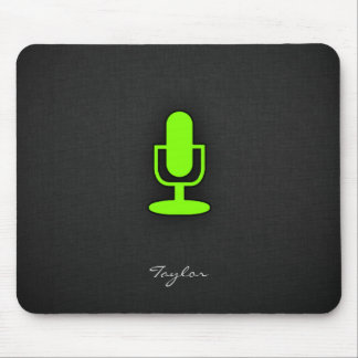 Chartreuse, Neon Green Microphone Mouse Pad