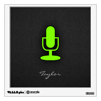 Chartreuse, Neon Green Microphone Wall Sticker