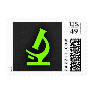 Chartreuse, Neon Green Microscope Postage