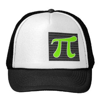 Chartreuse, Neon Green Pi symbol Trucker Hat