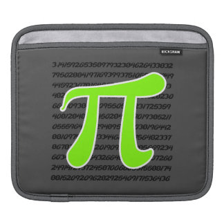 Chartreuse, Neon Green Pi symbol Sleeves For iPads