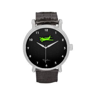 Chartreuse, Neon Green Plane Watch