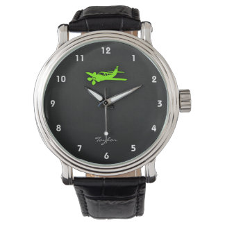 Chartreuse, Neon Green Plane Watch