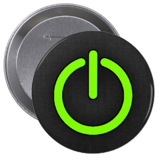 Chartreuse, Neon Green Power Button