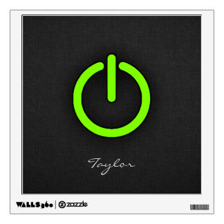 Chartreuse, Neon Green Power Button Wall Decal