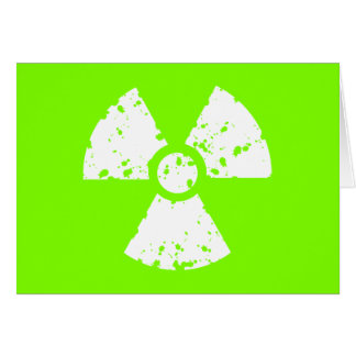 Chartreuse, Neon Green Radioactive Symbol Cards