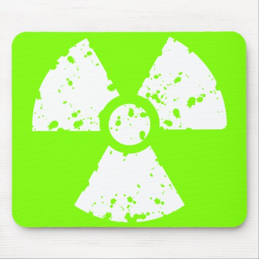 Chartreuse, Neon Green Radioactive Symbol Mouse Pad