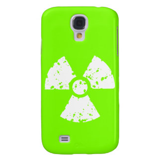 Chartreuse, Neon Green Radioactive Symbol Samsung S4 Case