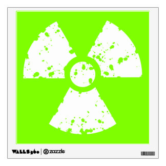 Chartreuse, Neon Green Radioactive Symbol Wall Decal