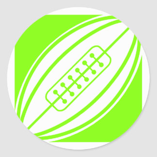Chartreuse, Neon Green Rugby Classic Round Sticker