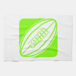 Chartreuse, Neon Green Rugby Hand Towels
