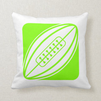 Chartreuse, Neon Green Rugby Pillows