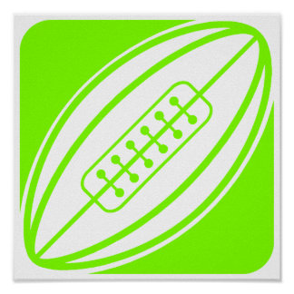 Chartreuse, Neon Green Rugby Print