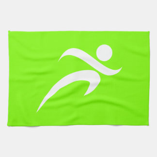Chartreuse, Neon Green Running Kitchen Towels