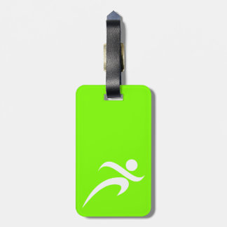 Chartreuse, Neon Green Running Luggage Tag