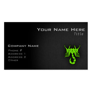 Chartreuse, Neon Green Scorpion Business Card