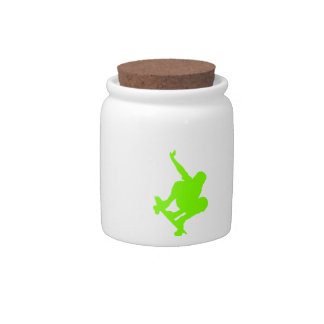 Chartreuse, Neon Green Skater Candy Jars