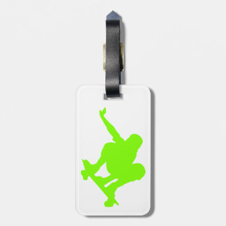 Chartreuse, Neon Green Skater Tags For Bags