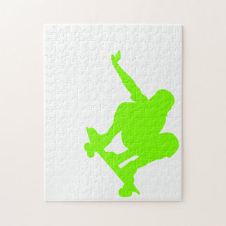 Chartreuse, Neon Green Skater Puzzle