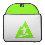 Chartreuse, Neon Green Snowboarding MacBook Pro Sleeve
